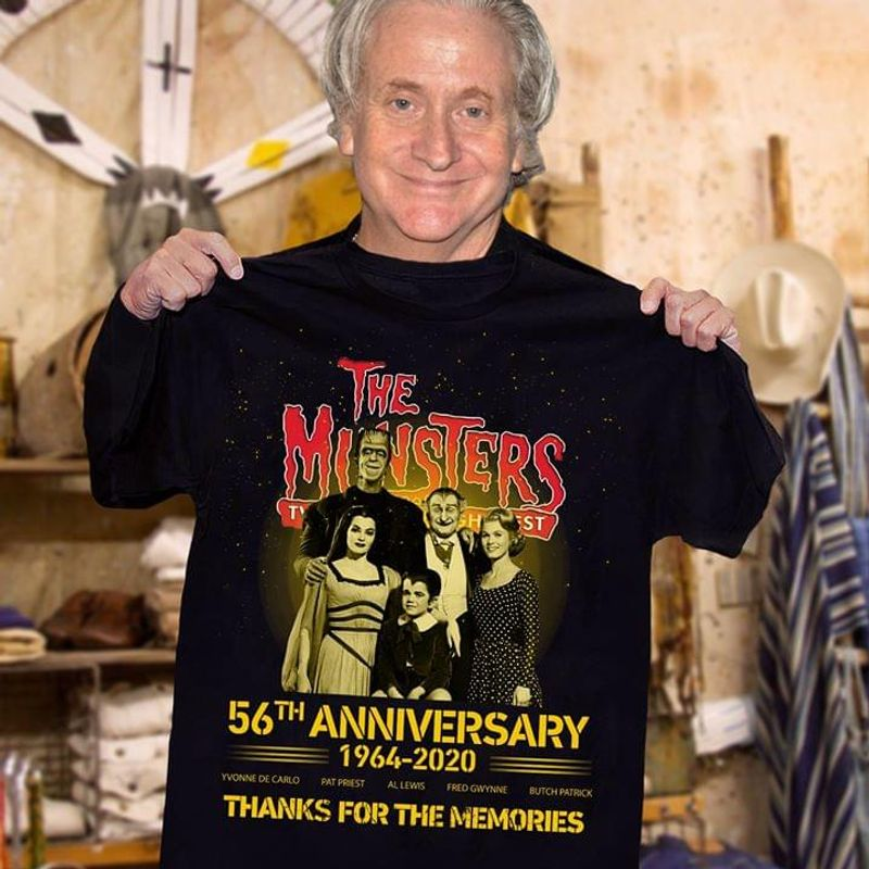The Munsters 56Th Anniversary 1964-2020 Thank You For The Memories Respect Black T Shirt Men And Women S-6XL Cotton