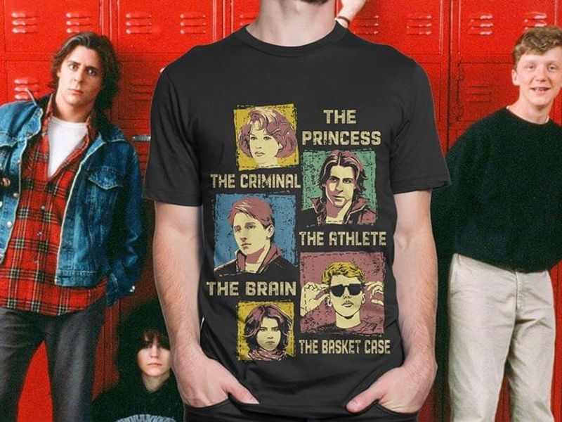 The Princess The Criminal The Athlete The Brain The Basket Case Vintage Black T Shirt S-6xl Mens And Women Clothing