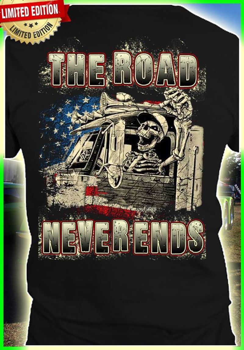 The Road Neverends T-shirt Black B7