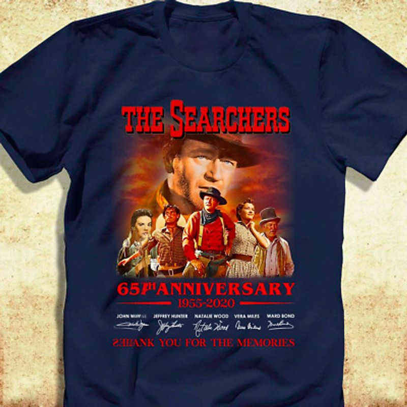 The Searchers 65th Anniversary 1955 2020 Signatures Thank You For The Memories T Shirt Navy