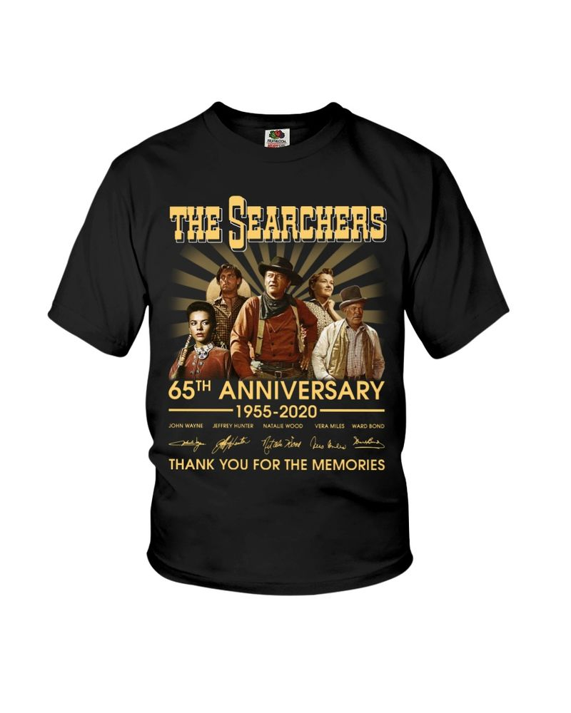 The Searchers Fans 65th Anniversary Thank You For The Memories Signature Black T Shirt Men And Women S-6XL Cotton