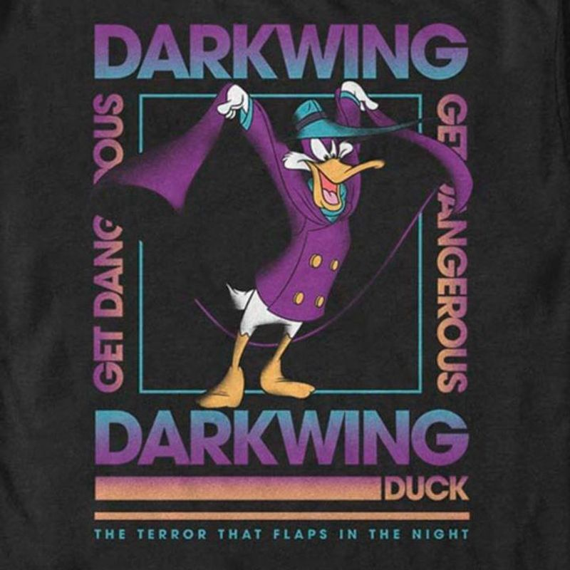 The Terror That Flaps In The Night Darkwing Duck T-Shirt Disney Darkwing Duck Black T Shirt Men And Women S-6XL Cotton