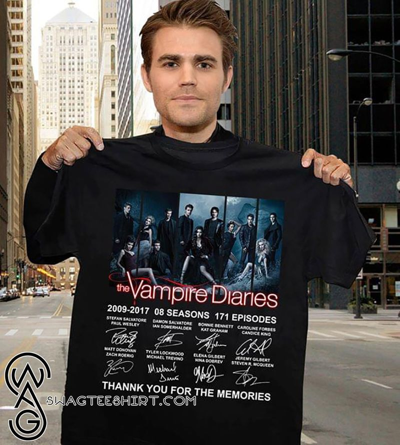The Vampire Diaries Signatures Thank You For The Memories Signatures T-shirt Black