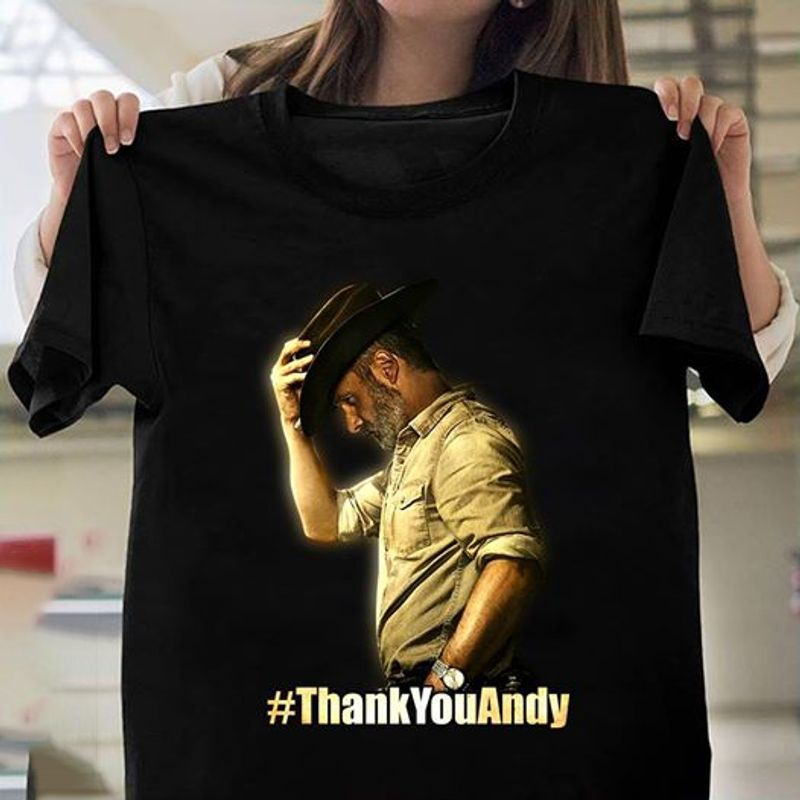 The Walking Dead Andrew Lincoln Thank You Andy T-Shirt Black
