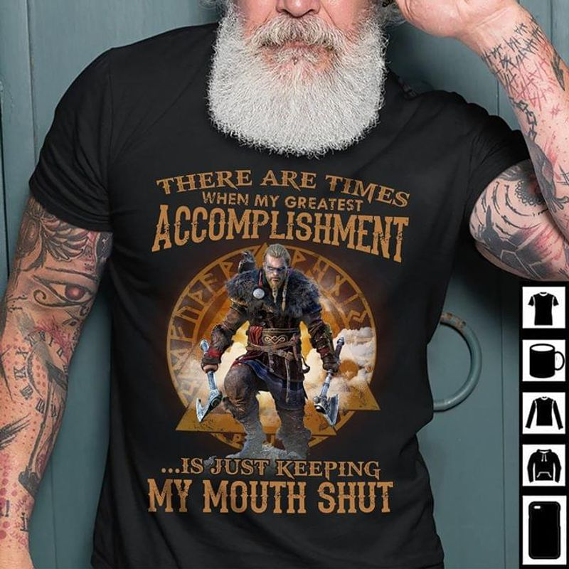 There Are Times When My Greatest Accomplishment Is Just Keeping My Mouth Black T Shirt Men/ Woman S-6XL Cotton