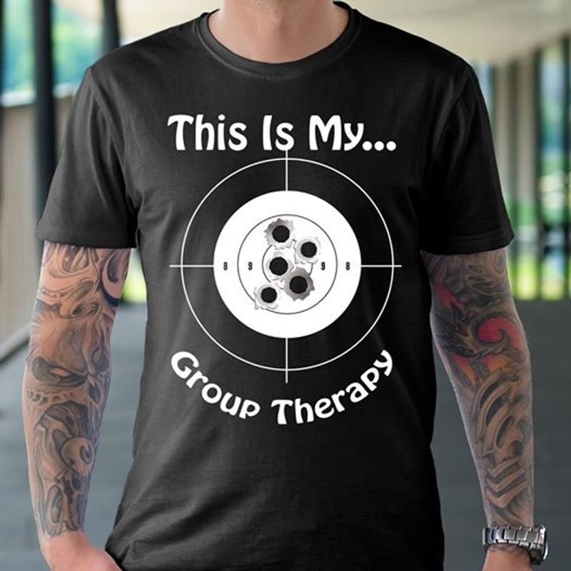 This Is My Groud Therapy  T-shirt Black B1