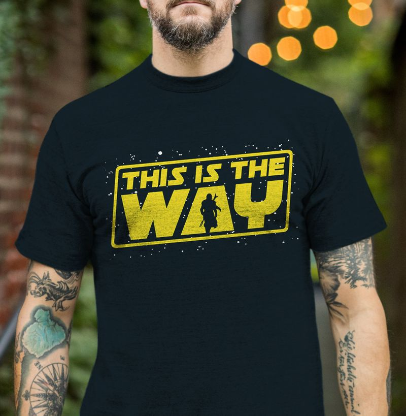 This Is The Way T Shirt Black A5