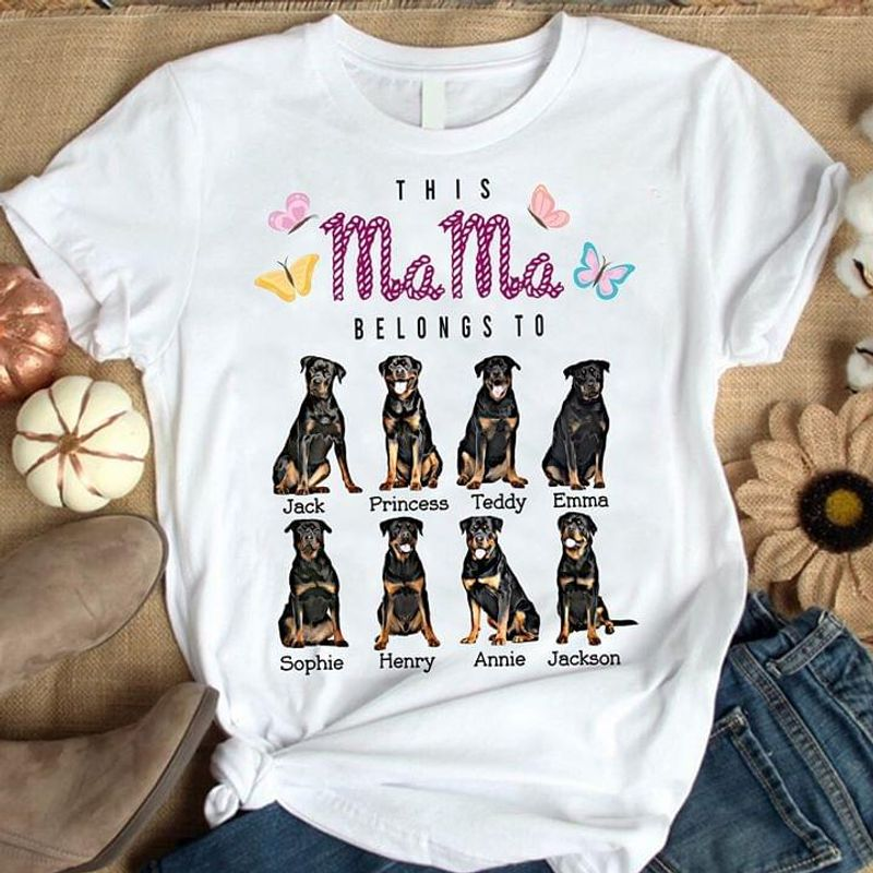 This Mama Belongs To Jack Princess Teddy Emma Sophie Henry Annie Jackson White T Shirt Men And Women S-6XL Cotton