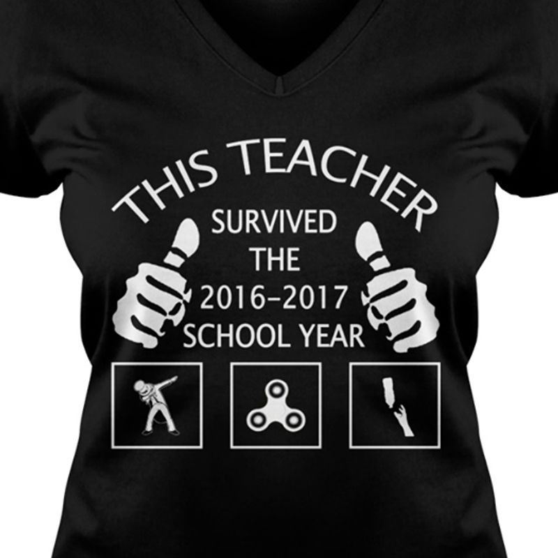 This Teacher Survived The 2016 2017 School Year  T-shirt Black B5