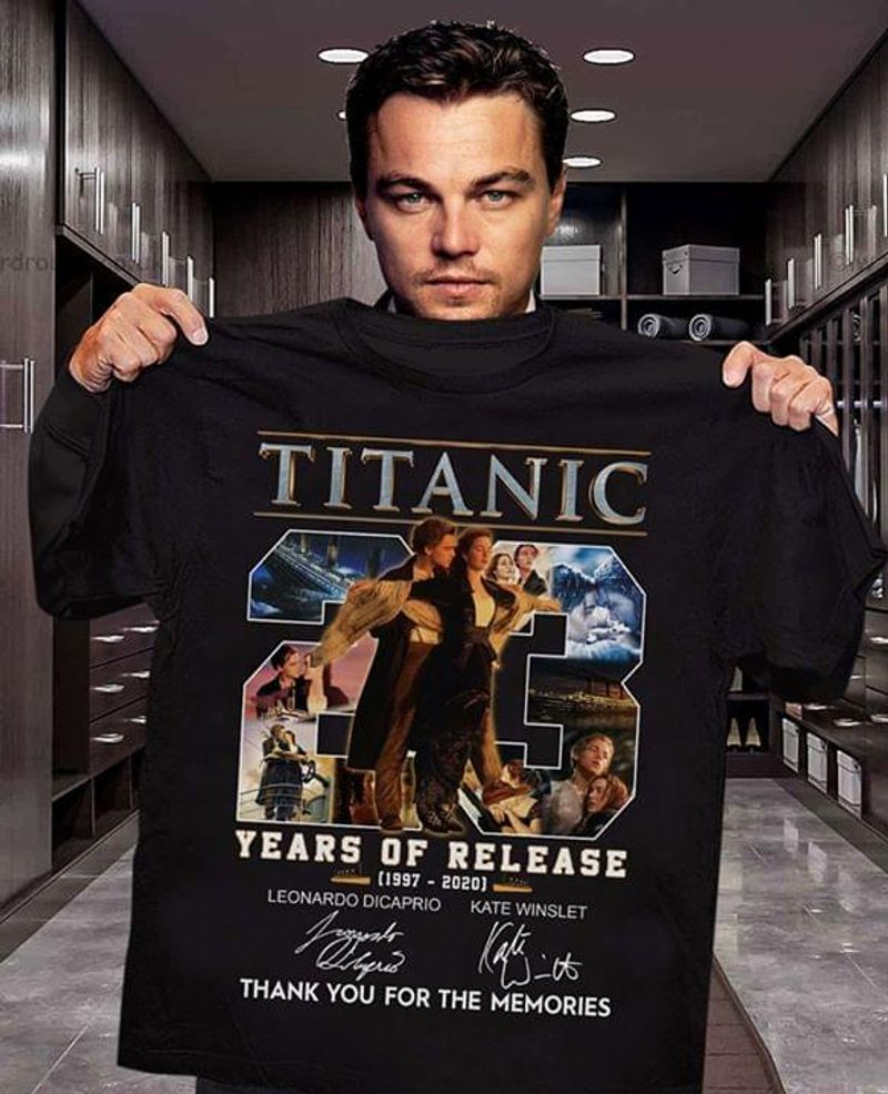 Titanic 23 Years Of Release Thank You For The Memories T-Shirt Titanic Anniversary Black T Shirt Men And Women S-6XL Cotton