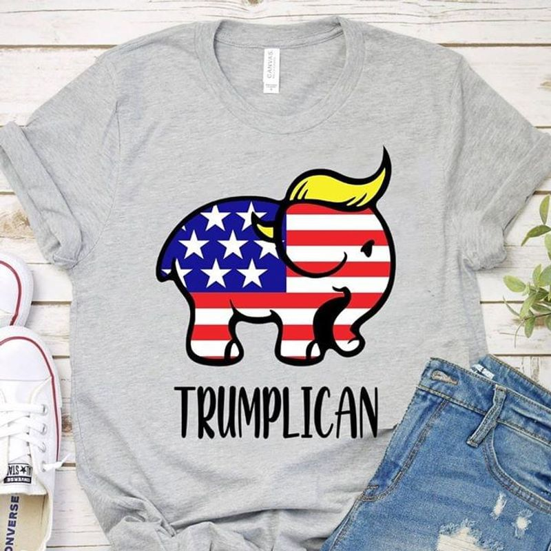 Trumplican Elephant Trump 2020  Independence Day 4 Of July T Shirt Men/ Woman S-6XL Cotton