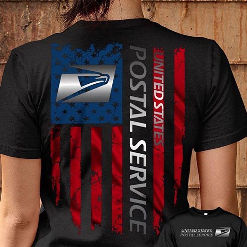 United States Postal Service T-shirt Black