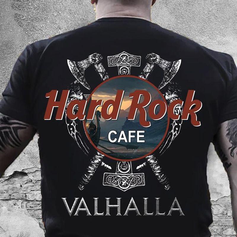 Viking Store Hard Rock Cafe Valhalla Back Black T Shirt Men/ Woman S-6XL Cotton