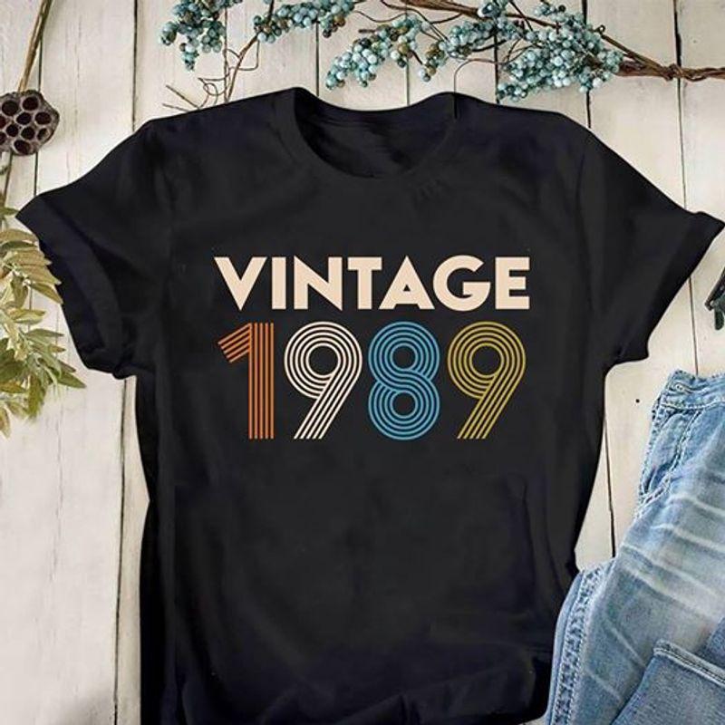 Vintage 1989 T-shirt Black B1