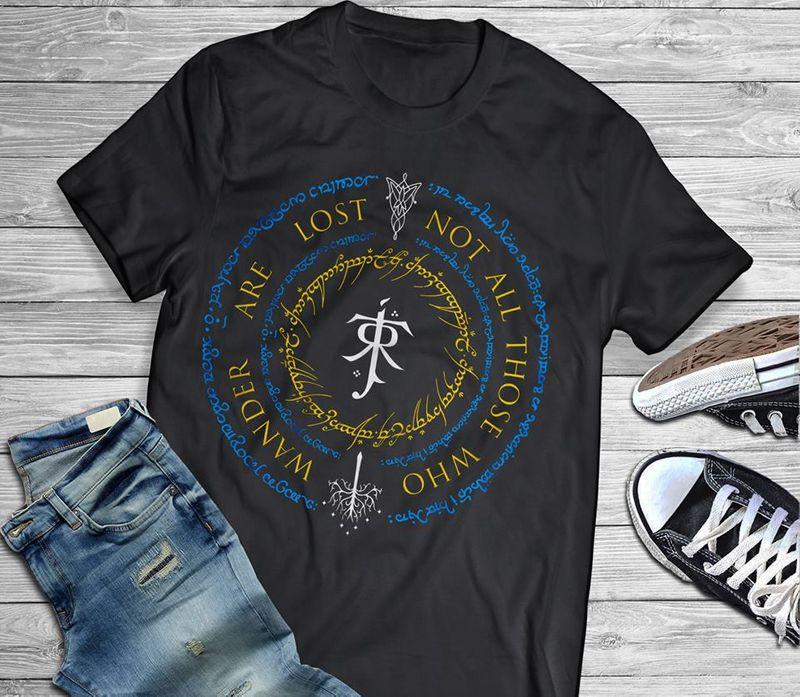Wander Are Lost Not All Those Who T-shirt Black A8