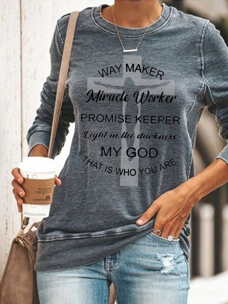 Way Maker Miracle Worker Promise Keeper Light In The Darkness My God T-Shirt Grey A5