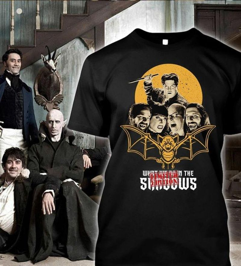 What We Do In The Shadows Horror Tv Series T-shirt Horror Movie Fans Halloween Gift Black T Shirt Men And Women S-6XL Cotton