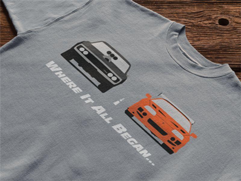 Where It All Began Cars T Shirt Grey A8
