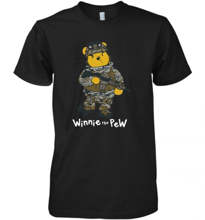 Winnie The Pew Army T-Shirt Black