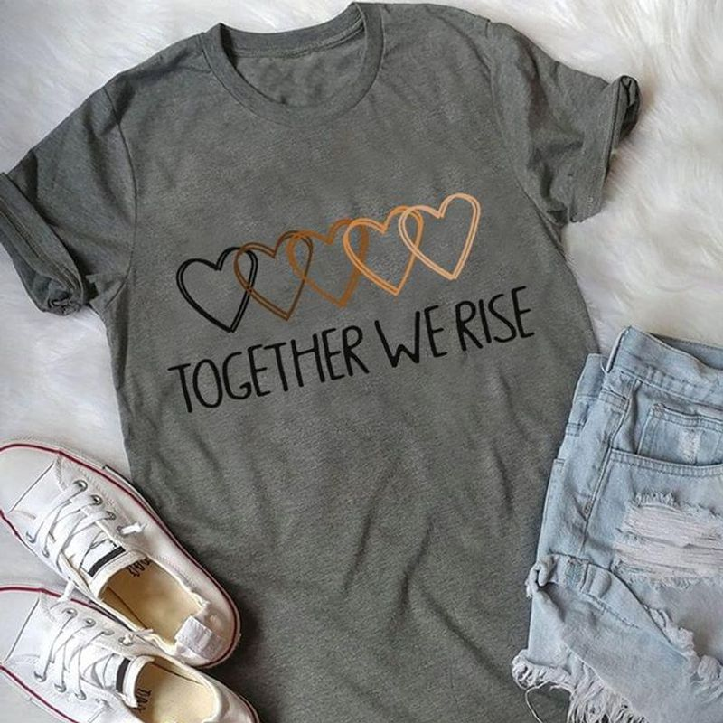 Women Speak Together We Rise Hearts Of Black Lives Matter Dark Heather T Shirt Men And Women S-6XL Cotton