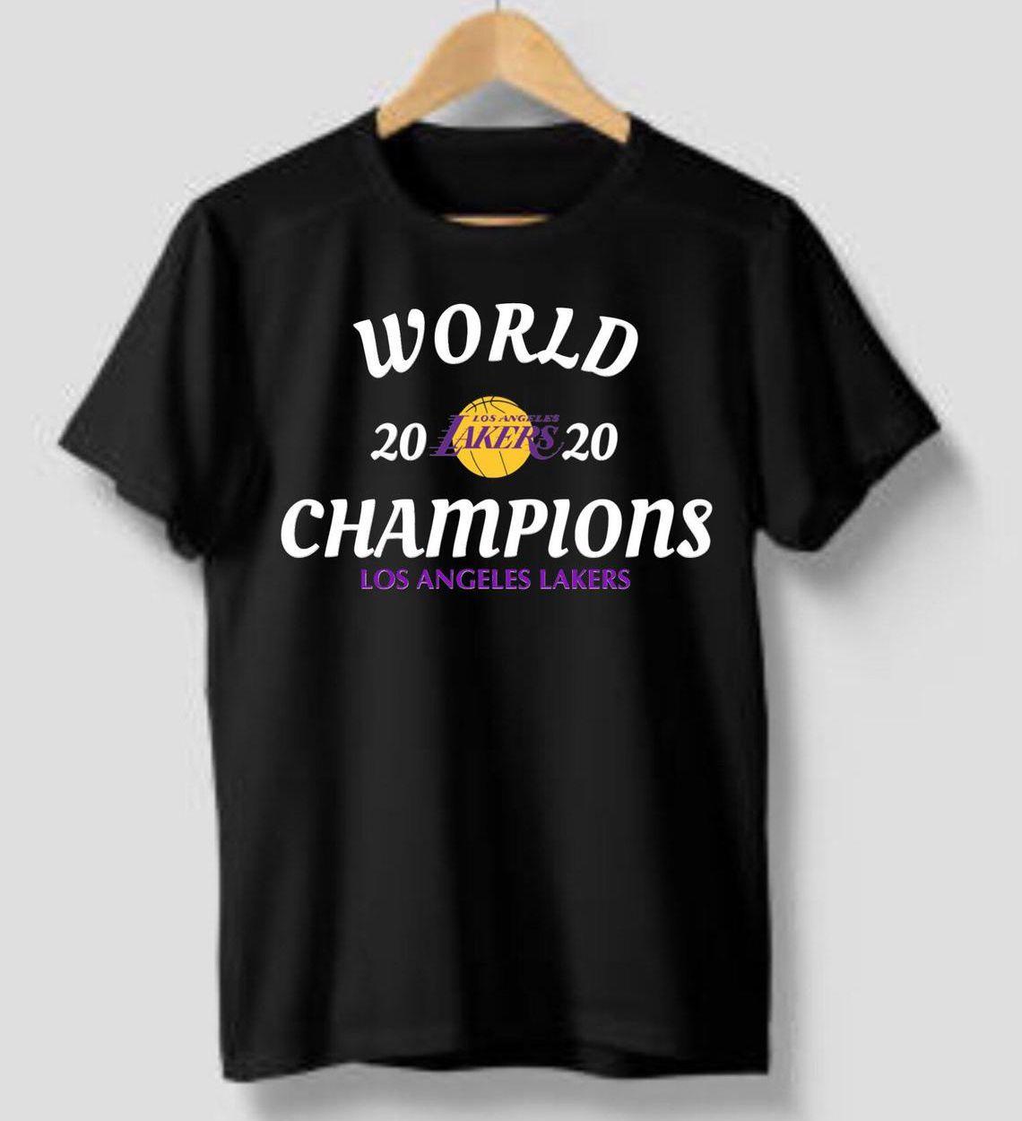 World 2020 Los Angeles Lakers Champions T-Shirt