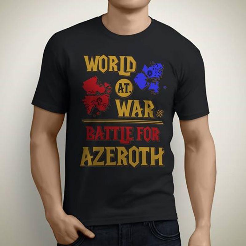 World At War Battle For Azeroth T-shirt Black A8