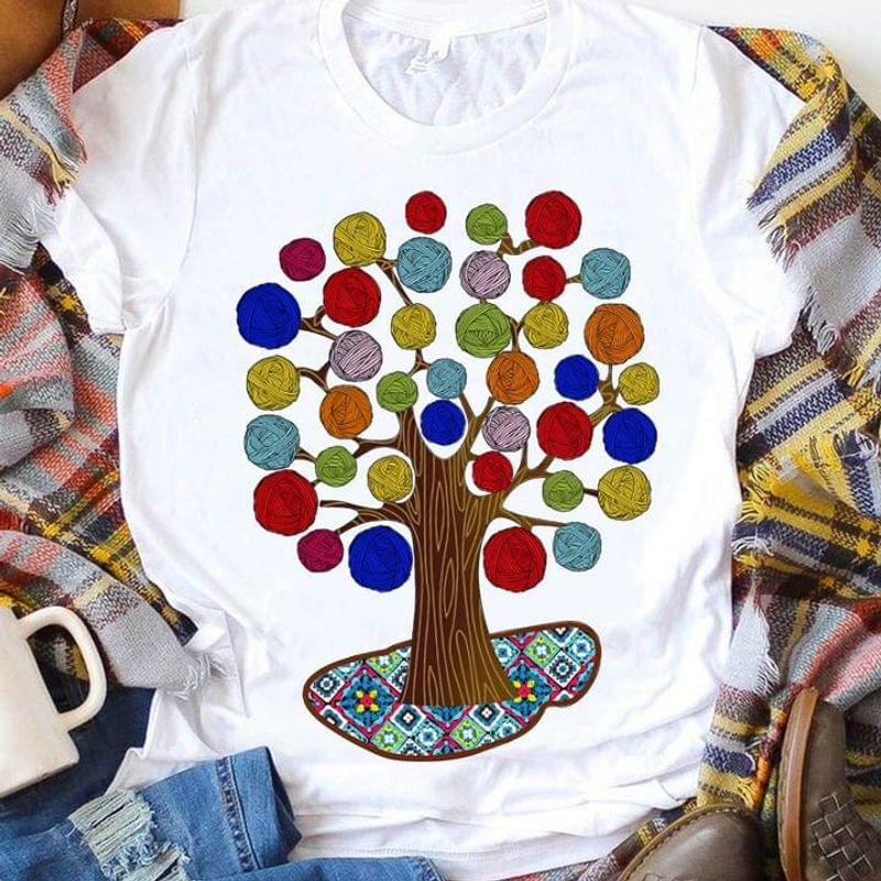 Yarn Tree Awesome Crochet & Knitting Great Idea Gift White T Shirt Men And Women S-6XL Cotton