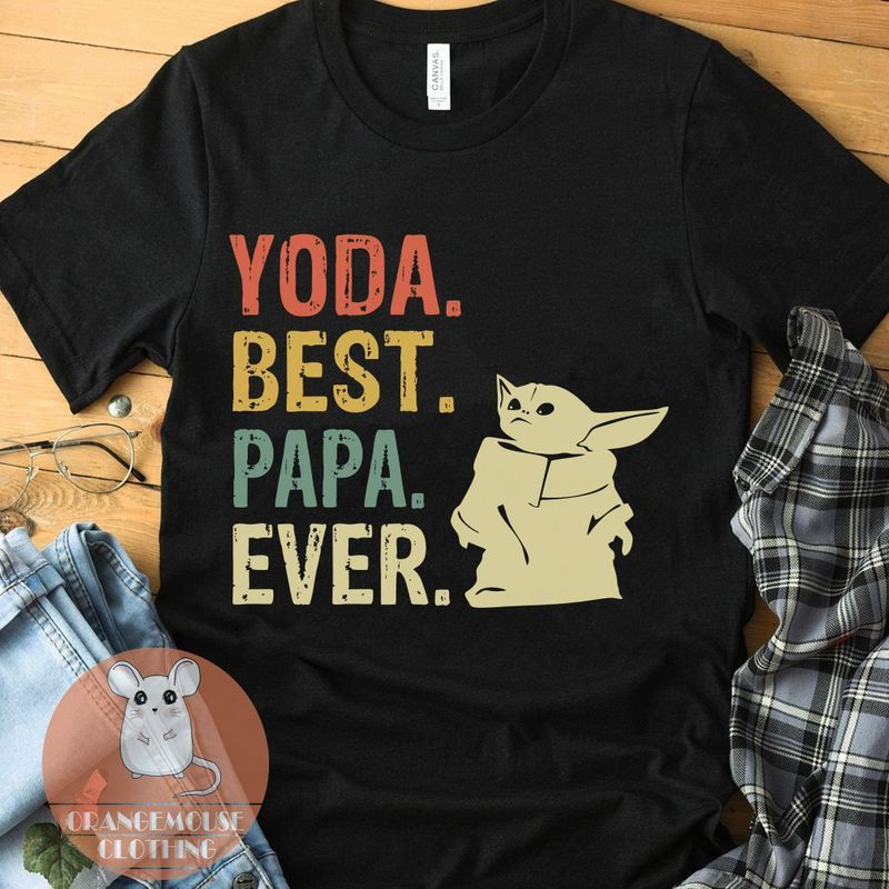 Yoda Best Papa Ever Shirt - The Child - The Mandalorian - Star Wars T-Shirt - Gift For Men Father Dad - Funny Baby Yoda Tee - Father'S Day