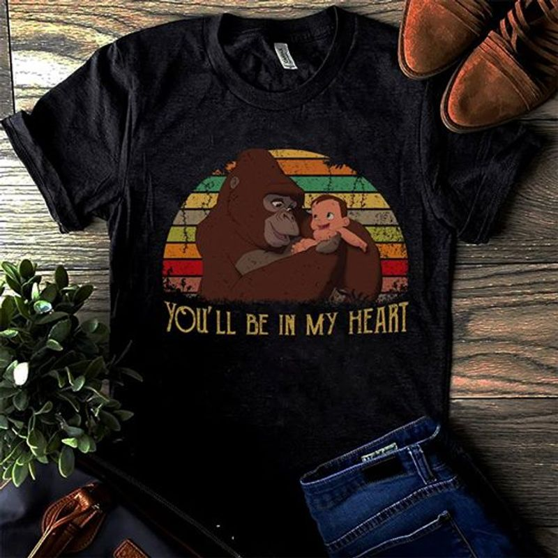 You Will Be In My Heart T-shirt Black B1