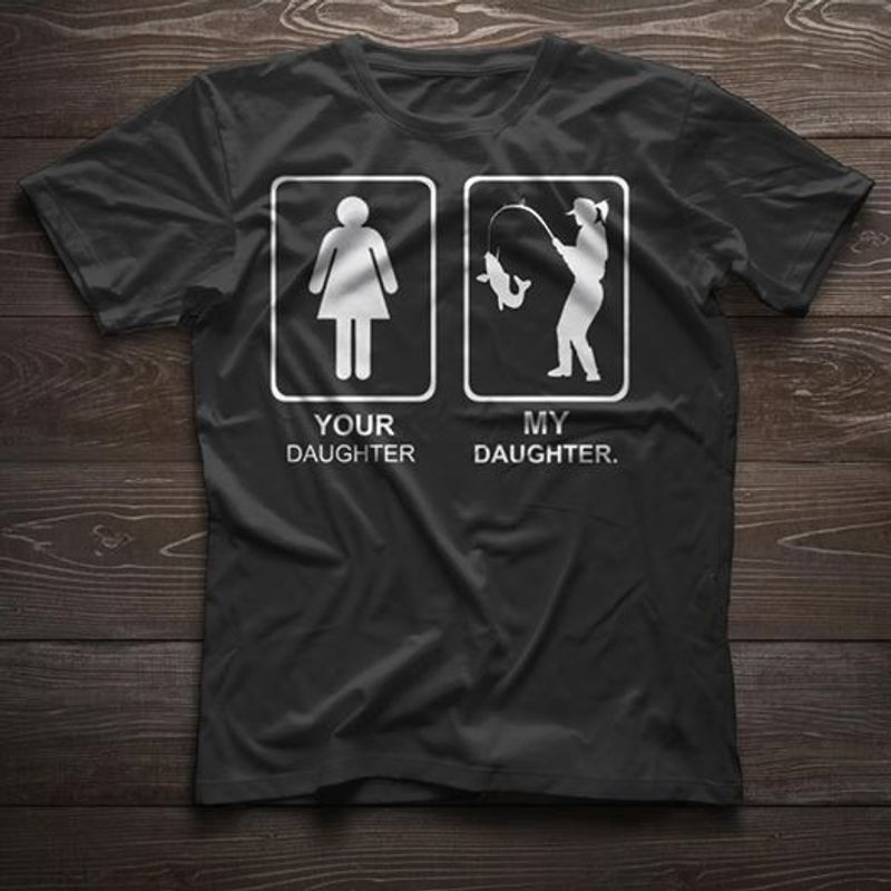 Your Daughter Is Girly My Daughter Is Tomboy T-shirt Black A4